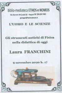 LAURA FRANCHINI – Gli strumenti antichi di Fisica nella didattica di oggi