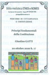 GIUSTINO GATTI – Principi fondamentali della Costituzione