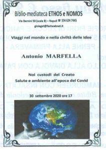 ANTONIO MARFELLA – Noi custodi del Creato. Salute e ambiente all'epoca del covid