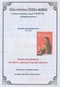 """ADRIANA VALERIO – """"Maria Maddalena"""" – Equivoci, storie, rappresentazioni"""