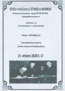 MARIO ROVINELLO – Introduzione storica. Come nasce la Costituzione