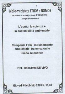 BENEDETTO DE VIVO – Campania Felix: inquinamento ambientale tra emozioni e realtà scientifica
