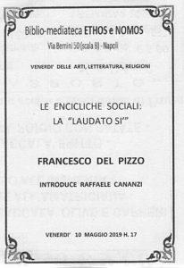"""FRANCESCO DEL PIZZO – Le encicliche sociali: la """"Laudato si'"""""""