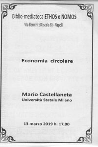 MARIO CASTELLANETA – Economia circolare