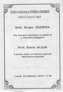 SERGIO ZAZZERA – Uno tsunami napoletano: la lapide di s. Domenico Maggiore