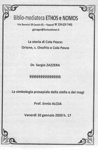 SERGIO ZAZZERA – La storia di Cola Pesce: Orione, s. Onofrio e Cola Pesce