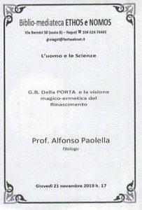 ALFONSO PAOLELLA – G.B. Della porta e la visione magico-ermetica del Rinascimento