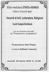 """FRANCESCO DEL PIZZO – Le encicliche sociali: la """"Populorum progressio"""""""