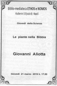 GIOVANNI ALIOTTA – Le piante nella Bibbia