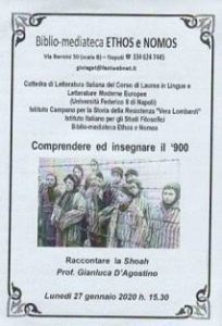 GIANLUCA D'AGOSTINO – LA SHOAH