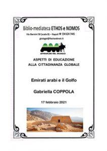 GABRIELLA COPPOLA – Emirati arabi e il Golfo
