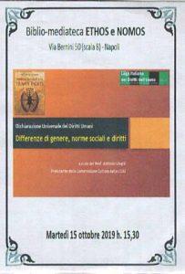 ANTONIO VIRGILI – Dichiarazione Universale dei Diritti Umani: Differenze di genere, norme sociali e diritti