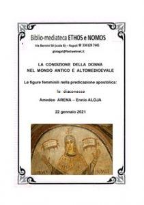 AMEDEO ARENA ed ENNIO ALOJA – Le figure femminili nella predicazione apostolica: le diaconesse