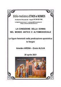 AMEDEO ARENA ed ENNIO ALOJA – Le figure femminili nella predicazione apostolica: le Vergini