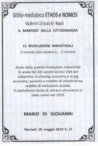 MARIO DI GIOVANNI – La quarta rivoluzione industriale