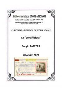 """SERGIO ZAZZERA – La """"bonafficiata"""""""