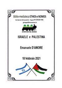 EMANUELE D'AMORE – ISRAELE e PALESTINA