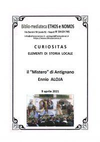 """ENNIO ALOJA – Il """"Mistero"""" di Antignano"""