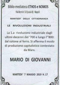 MARIO DI GIOVANNI – La prima rivoluzione industriale