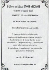 MARIO DI GIOVANNI – La terza rivoluzione industriale